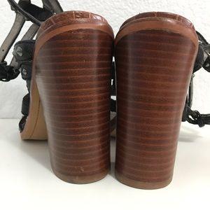 Sam Edelman Shoes - Sam Edelman Black Keith Croc Studded Sandal Sz 8